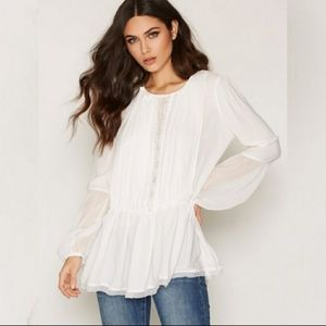 NWT Free People White Soul Serene Top